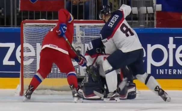 Победа Сборной России по хоккею над словаками